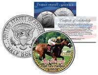 SKY BEAUTY * Triple Tiara Champion 1993 * Racehorse JFK Half Dollar U.S. Coin