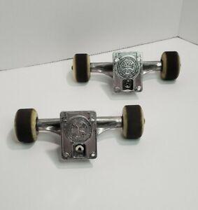 Independent Truck Co Forged Vintage Skateboard Trucks W/ Bones Wheels & Hardware
