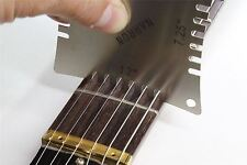 Guitar Notched Radius Gauges for measuring fingerboard radius with strings on
