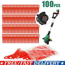 100X Red Plastic Blades Set Cutter Replace For Cordless Grass Trimmer Strimmer