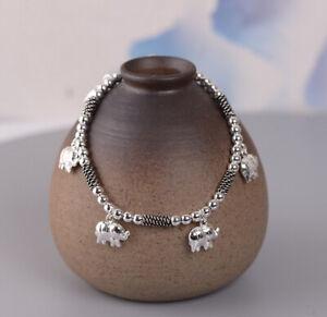 K05 Armband mit kleinen Elefanten aus Sterling Silber 925 Elefant