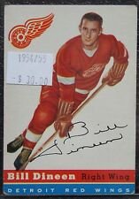 1954-55 DETROIT RED WINGS - BILL DINEEN - #57 - First Year Topps TCG - NCC