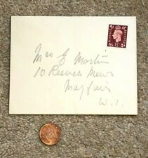 George VI Postage Stamp 1 1/2d on Envelope Not Franked Unposted Martin Mayfair