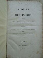 BURY : MODELES DE MENUISERIE remarquables de Paris, 1827. 39 planches gravées.