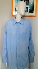 GEORGE - BLUE, STRIPED, LONG SLEEVE SHIRT size 15.5 NECK - POLYCOTTON