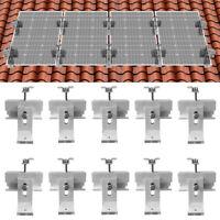 Metal Light Roof Solar Panel Mount Bracket Kit(for 1-4 Pcs Solar Panels)