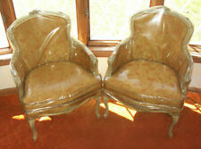 Pair Vintage French Provincial Style Accent Chairs