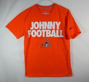 Johnny Manziel Cleveland Browns NFL Football T Shirt Nike Regular Fit Size SMALL