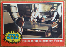 Topps Star Wars trading card red series, 18A Hiding in the Millenium Falcon!