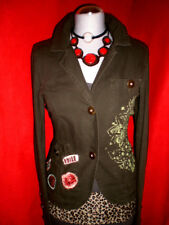 ZARA ARMY BLAZER PARKA MILITARY PATCHES BUTTONS BLOGGER S 36 NEU!! TOP!!