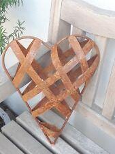 Edelrost Blechstreifen Herz zum befüllen Dekoration Garten Türkranz