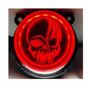 LED Tail Light with skull face Logo Black For - Royal Enfield Classic 350, 500