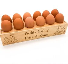 Personalised Egg Holder / Station. Farmers gift, Country kitchen, Hens, Chickens