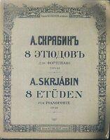 """A. SKRJABIN : """" 8 Etüden """" Op. 42  ~ übergroße Noten, ALT"""