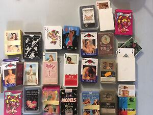 Lot De 24 Jeu De Carte Erotique Vintage Pin-up Adulte