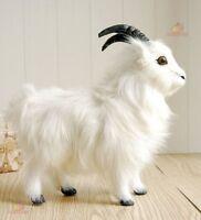 White Standing Goat Plush Stuffed Animal Big Soft Toy Kid Birthday Cushion Gifts