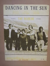song sheet DANCING IN THE SUN The Diablos 1970