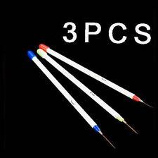 3 Pièces Art Pour Les Ongles Embouts Acryliques Liner Dessin Stylo Pinceau