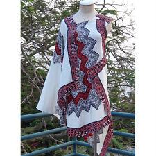 Etro Silk One Shoulder Sleeveless Buddha Print Caftan Dress I40 S-M
