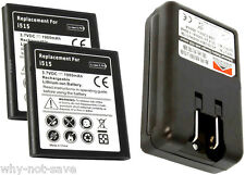 2x Battery and Wall usb Charger for Verizon SamSung Galaxy Nexus SCH-i515 CDMA