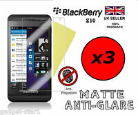 3x HQ MATTE ANTI GLARE SCREEN PROTECTOR COVER LCD GUARD FILM FOR BLACKBERRY Z10