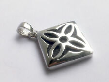 SIGNED NF STERLING SILVER 925 THAILAND STYLIZED FLOWER PENDANT