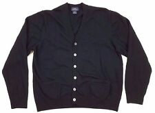 Brooks Brothers XS Cardigan Sweater Blue Navy Mens Merino Wool Size Sz Buttons