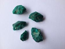 Lot de 5 tourmalines vertes véritables pierres précieuses