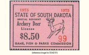 SD Archery Deer 1975 $8.50 (pink [G#]) *SALE*