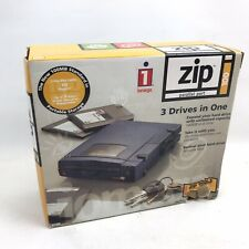 iOMEGA ZIP 100 PARALLEL PORT 3 Drives In One Vintage Computer Portable