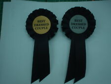 "MELBOURNE CUP DAY AWARD ROSETTE SAYING "" BEST DRESSED COUPLE """