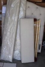 New Pottery Barn Kids Eliza tufted twin headboard side rails bed linen natural