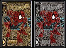 Spider-Man #1 Shattered Variant SET Presale Gold/Silver (2 books) Facsimile