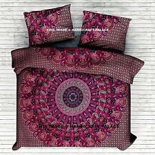 Indian Elephant Mandala Duvet Doona Cover Reversible Queen Quilt Cover Bedding