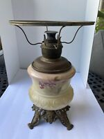 Vintage Victorian Style Banquet Hurricane Oil Lamp Original NOT Electrified