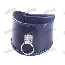 Faux Leather neck collar posture neckcollar Corset Restraints bondage Black
