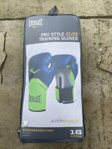 Everlast Pro Style Elite 16oz Boxing Gloves Sparring Bag Training Gym Fitness