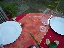 Tablecloth Provence 160 CM Round Red from France Easy-Care And Non-Iron