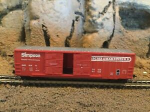 N Scale Micro trains 50' double door boxcar A&M ARCATA MAD RIVER Simpson NIB