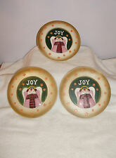 3 pc Christmas Snowman Angel Joy Wall Plaque Wall Decor Christmas Early