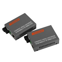 10/100/1000Mbps Gigabit Ethernet Network to SC Fiber Optic Media Converters 20KM