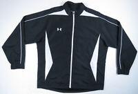 Under Armour UA Logo Black White Full Zip Mens Windbreaker Track Jacket XL