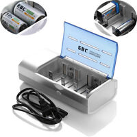 EBL Universal Battery Charger For AAA /AA C D Size 9V 6F22 NI-MH NI-CD Batteries