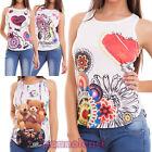 Pull femme débardeur débardeur haut rameur imprimés t-shirt sexy neuf CJ-2230