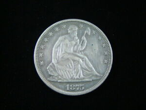 1875 Liberty Seated Silver Half Dollar XF