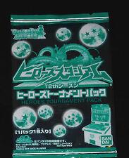 DRAGON BALL Z DBZ HEROES PROMO CARD 12th TOURNAMENT JPB 1 PACK SEALED BANDAI DBH