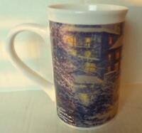 Thomas Kinkade Christmas at The Ahwahnee 1990 Vintage Tall Mug