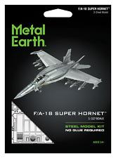 Fascinations Metal Earth F/A-18 Block III Super Hornet Aircraft 3D Model Kit