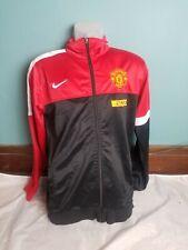 Nike Manchester United Warm Up Full Zip Jacket Men's Medium Red Black Football