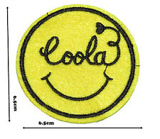 Smiley Face Cool Iron Sew Embroidered Patch Badge Patches Logo Fancy Badges #296